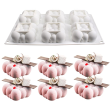 Silicone Mold Clouds-Shape 6-Cavity Cake-Decoration Square 3D Mousse