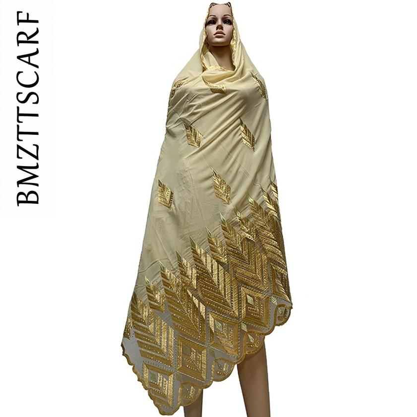 Image 3 - 높은 품질시 폰 스카프 mulim 여성 자 수 쉬폰 스플 라이스 얇은 명주 그물 소재 shawls에 대 한 큰 크기 스카프 BM742여성용 스카프   -
