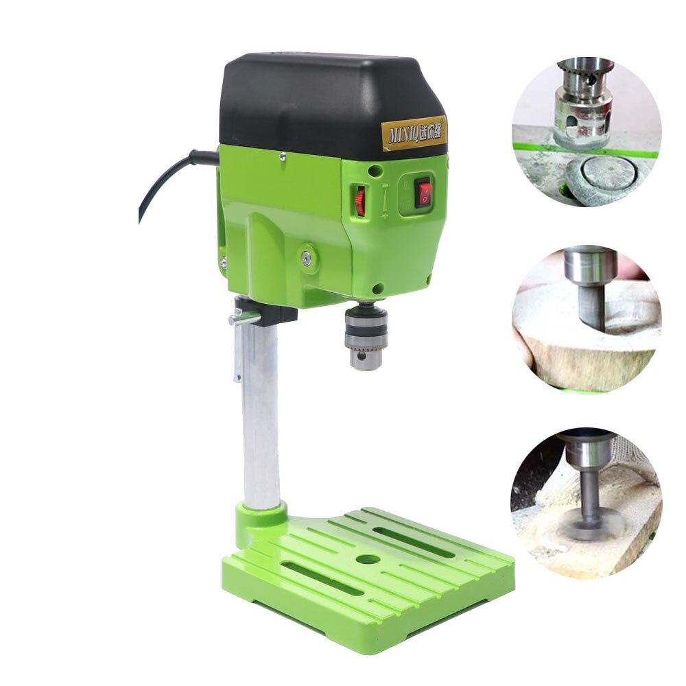 Купить с кэшбэком Berserker Mini Drill Press Bench Small Drill Machine drilling Work Bench speed adjustable EU plug 580W 220V BG-5169A