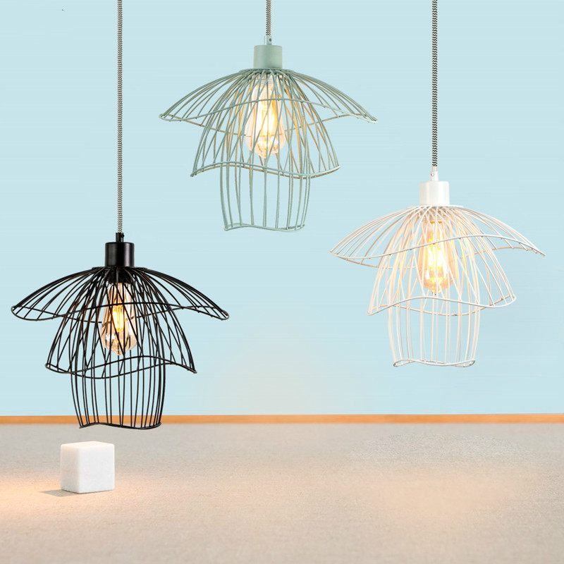 Nordic Simple LED Pendant Lamp Creative Personality Industrial Hanging Lamp Kitchen Bedroom Living Room Bar Decor Pendant Lights