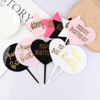 1Pc z okazji urodzin akrylowy Topper do ciasta deser pieczenia strona dekoracji tanie i dobre opinie CN (pochodzenie) Cake Topper Akrylowe Ślub i Zaręczyny Chrzest chrzciny Wielkie Wydarzenie Birthday party Dzień dziecka