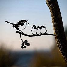 Adornos decorativos de Metal para jardín, decoración de árbol de acero inoxidable, Pájaro de Metal, 25 @