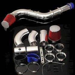 1 Juego de 3 pulgadas de coche Universal cinco partes de carreras de filtro de aire directo Kit de admisión de inyección rendimiento del sistema de inducción en frío filtro de aire
