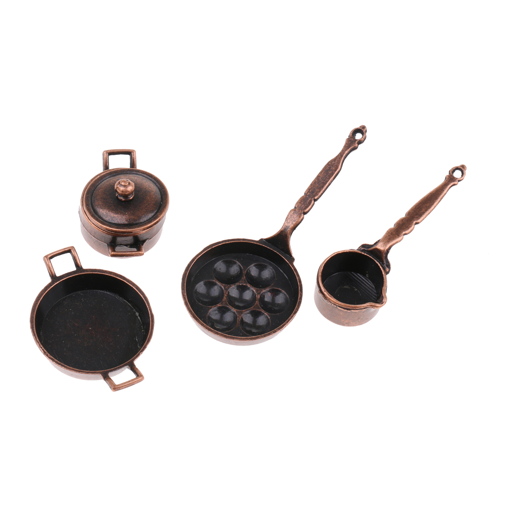 MagiDeal 1//12 Dollhouse Miniature Cookware Alloy Microwave Oven Kitchen Accs