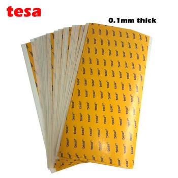 TESA 68547 cienkie 0 1mm grubości zwierzęta domowe są dwustronne SUPER lepkie HEAVY DUTY arkusz samoprzylepny 4 #8222 x 8 #8221 100MM * 200MM przezroczysty przezroczysty kolor tanie i dobre opinie Dwustronna taśma