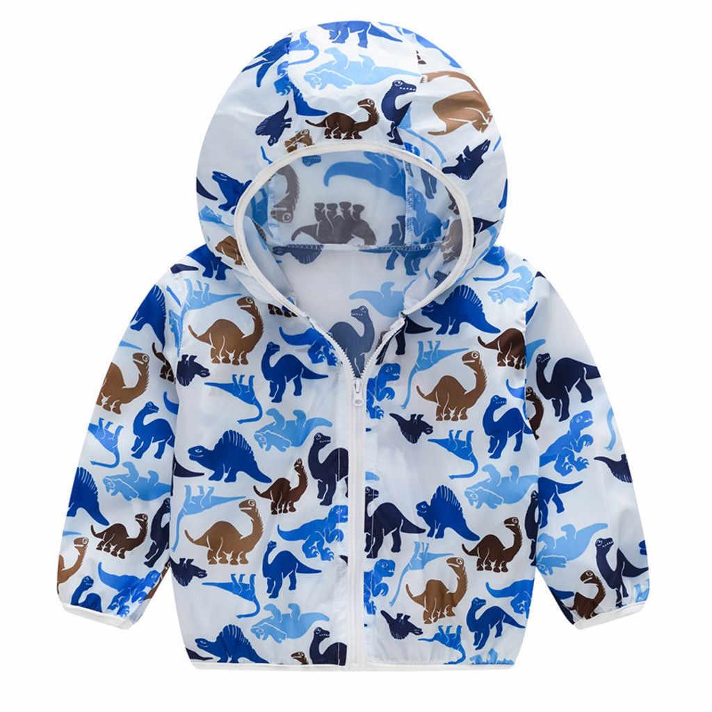 ילדים מעיל קיץ קרם הגנה מעילי הדפסת סלעית הלבשה עליונה רוכסן מעילי אופנה ילדי בנות בני מעיל בד C140 #
