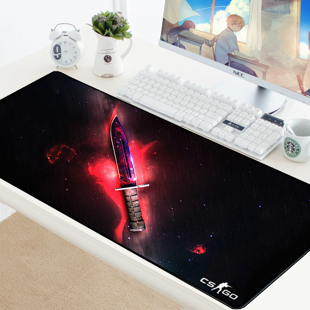 CS GO Gamer Mouse Pad Knife Counter Strike Non-slip Keyboard Mouse Mat CSGO Gamer Mousepad For PC Computer Keyboard Mouse Gaming