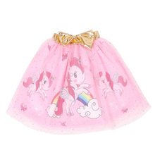 все цены на 3-8Y Fashion Girls Tutu Skirt Kids Princess unicorn print· Ball Gown mesh skirt for girls Children Clothing D015 онлайн