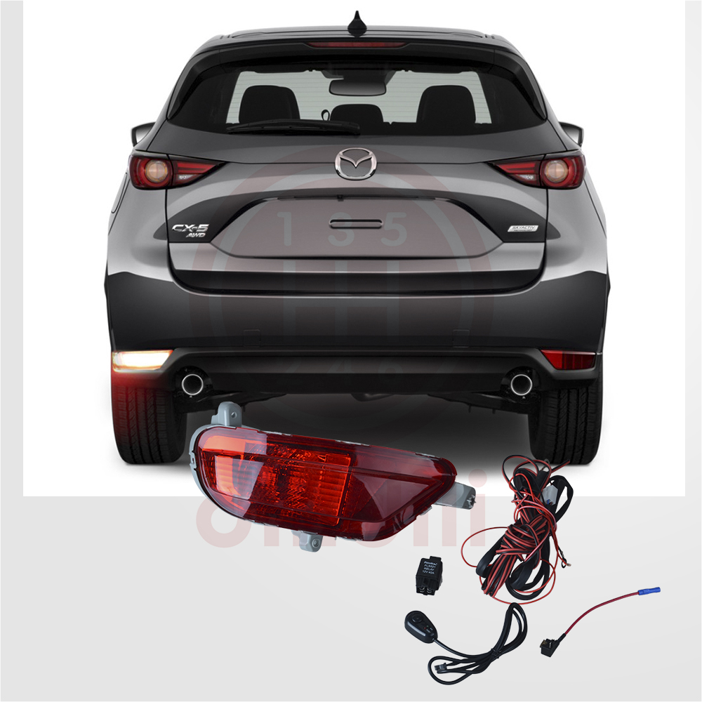NEW Halogen Rear T20 Fog Lights lamp & switch kit <font><b>for</b></font> <font><b>Mazda</b></font> <font><b>CX</b></font>-<font><b>5</b></font> <font><b>cx</b></font> <font><b>5</b></font> 2017 <font><b>2018</b></font> <font><b>2019</b></font> 2020 image