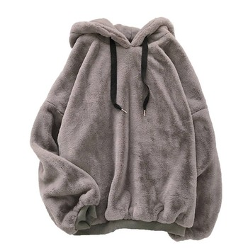 Autumn Winter Coats Soild Sweet Hooded Women Harajuku Loose Casual Warm Hoodies Ladies Fleece Flannel Pullover Female Sweatshirt 4
