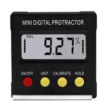 Mini 360° Digital Protractor Inclinometer Electronic Magnetic Base Level Box Tools