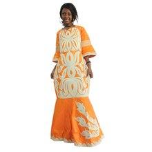 Vestido dashiki bazin riche para mujer, vestidos africanos tradicionales para mujer, patrón bordado con piedras, ropa africana, MD 2020, 2020