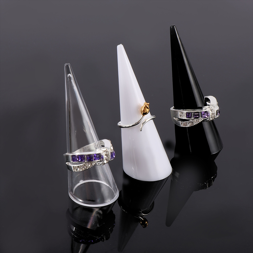 5Pc Finger Ring Display Ring Holder Jewelry Exhibition Stand Fancy Acrylic Jewelry Storage Racks Organizer Showcase Holder