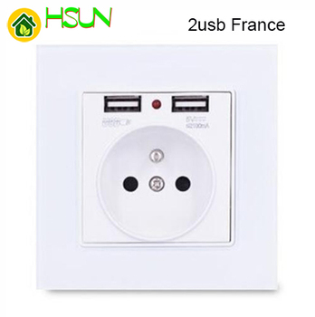 86 type White tempered glass reset toggle switch 1 2 3 4 gang 1 2 way retro hotel creative switch USB France Germany UK socket 25