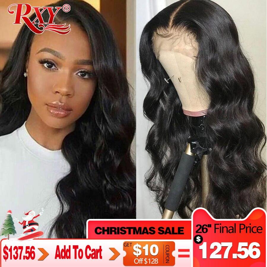 13X6 dentelle avant cheveux humains perruques 360 dentelle frontale perruque RXY Remy vague de corps dentelle avant perruque 13x4 brésilien cheveux humains perruques pour les femmes