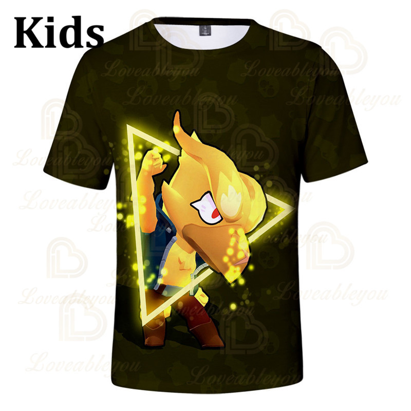 Children's Crow Shoot Game 3D Print T-shirt Womens Clothing Brawling T Shirt Star Women Kids Leon Tops 2020 Shirt Boys Girls