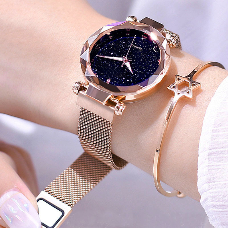 Luxury Women Watches New 2019 Ladies Magnetic Starry Sky Watch Top Brand Rhinestone Female Quartz Wristwatches Relogio Feminino