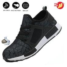 Unisex Steel Toe Safety Shoes Lightweight Breathable Work Boots Comfortable Industrial Shoes werkschoenen met stalen neus