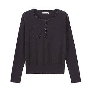 Image 5 - אינמן עגול צווארון כבוי כתף בתוך לסרוג ללבוש כל התאמה נשים בסוודרים סוודר