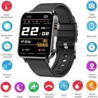 PPG EKG Smart Uhr Mit Körper Temperatur Herz Rate Blutdruck Monitor Smartwatch 1,7 zoll Full Touch Für Männer Frauen sport
