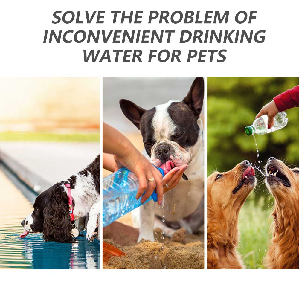 Portable Pet Dog Water Bottle 300ml Drinking Bowl for Small Large Dogs Feeding Water Dispenser Cat Dogs Outdoor Bottles