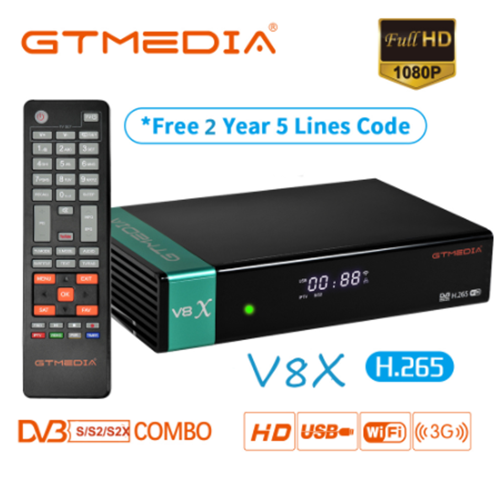New Arrival Gtmedia V8X Update Of GTMEDIA V8 NOVA DVB-S/S2/S2X SCART+CA Satellite Receiver With 3 Years Europe Cline For Spain