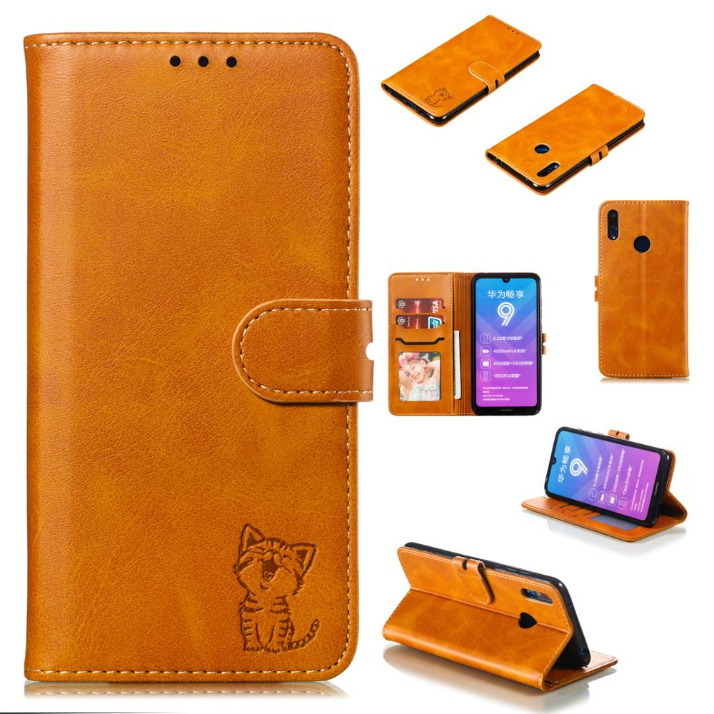 Cute <font><b>Cat</b></font> <font><b>Case</b></font> For <font><b>Huawei</b></font> Y5 Y6 <font><b>Y7</b></font> <font><b>2019</b></font> Card Slot Wallet Cover For <font><b>Huawei</b></font> Honor 8X 8A 8S 7C Honor 20 P SMARTZ P20 Lite <font><b>2019</b></font> NOVA5 image