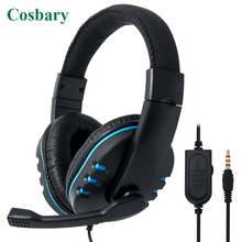 3.5mm Wired Gaming Headset Deep Bass Game Earphone Professional Gamer Headphones With Microphone for PC Computer PS4 salar kx101 gaming headset wired headphones deep bass earphone headband stereo sound with microphone for pc gamer