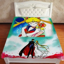 Pretty Soldier Sailor Moon Throw Blankets For Beds Anime Manga