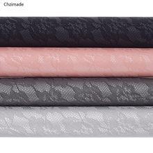 Lychee life tecido de couro falso, com renda, 29x16cm, couro sintético, alta qualidade, diy, material para cabelo acessórios