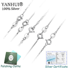 Have Certificate! Hot Sale Classic 5 Designs Original 925 Sterling Silver Basic Chain Necklace For Women Jewelry Accessories