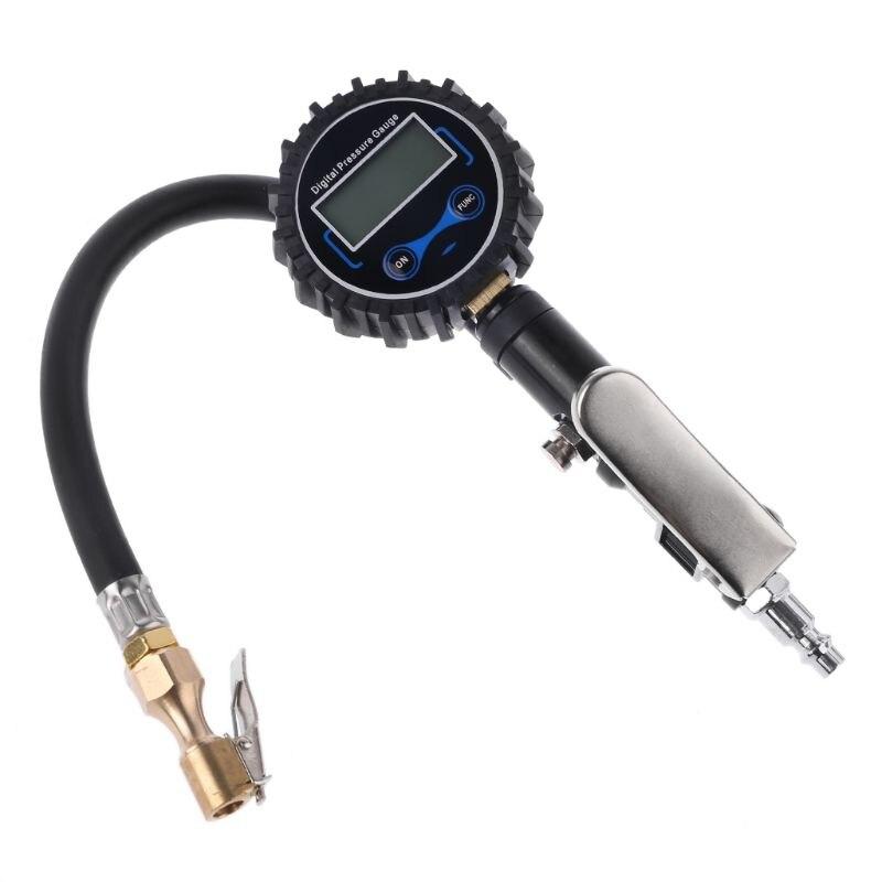 Цифровой шиномонтажный насос с манометром 200 фунтов/кв. дюйм воздушный патрон для грузовика/автомобиля/велосипеда