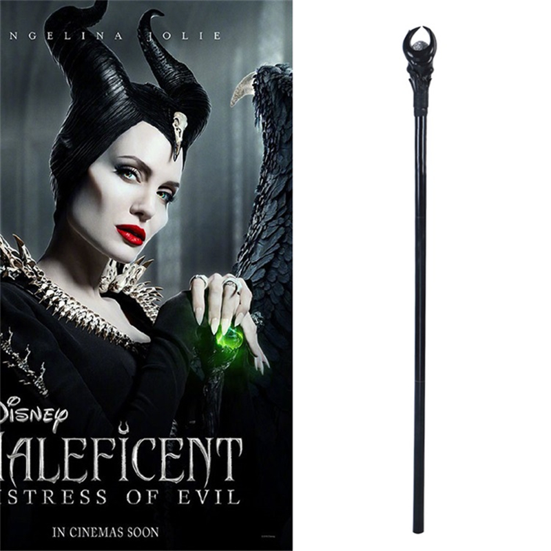 New Anime Maleficent Cosplay Accessories Props Witch Magic Wand PVC Scepter LED Cane Walking Stick Party Halloween Carnival Prop