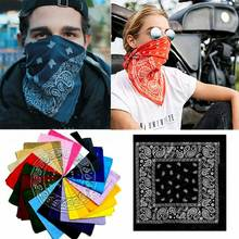 Large Pack of 12 Colors 100% Cotton Non Fading Paisley Bandanas Lot Print Scarf paisley print frayed trim scarf