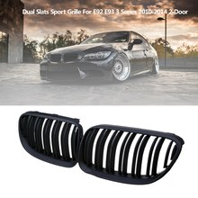 Matte Black Front Hood Kidney Sport Grille Grill for BMW 3 Series E92 E93 28I 328I XDrive 335I 335I 2010-2014 2-Door(China)