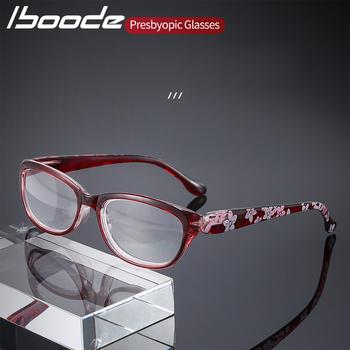 Iboode okulary do czytania blokujące niebieskie światło okulary do czytania dla obu płci biznes okulary do czytania + 1 0 1 5 2 5 3 0 3 5 4 0 tanie i dobre opinie WOMEN Unisex Jasne CN (pochodzenie) Anti-odblaskowe 3 6cm Z poliwęglanu 5 4cm Z tworzywa sztucznego