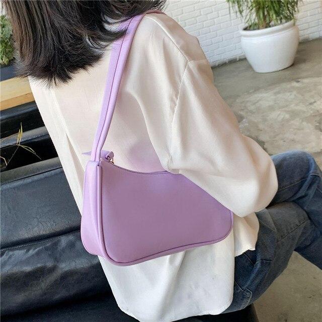 2021 nova alça bolsa feminina retro bolsa de couro do plutônio ombro totes axilas vintage superior lidar com saco feminino pequenos sacos sucancillary 3
