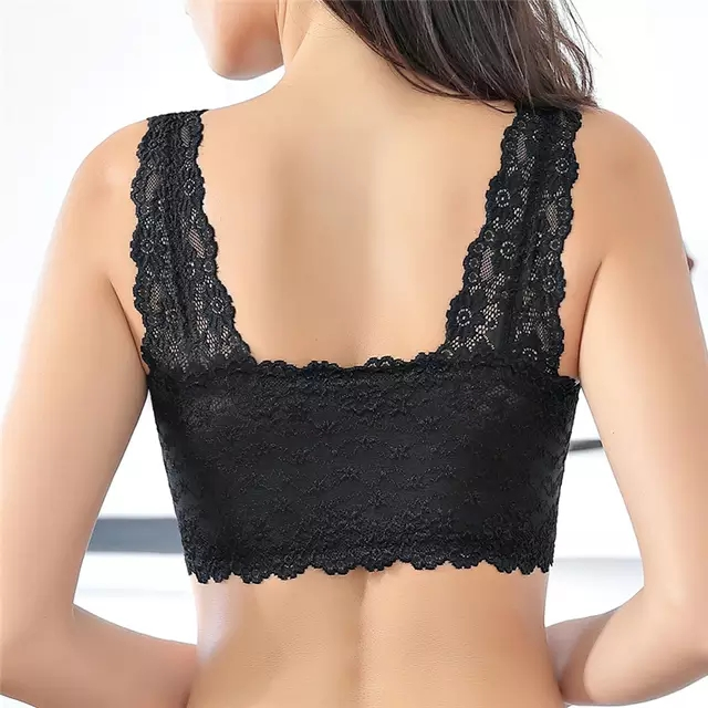 Front Zipper Push Up Bra   Full Cup Sexy Lace Bras   Seamless Wireless Gather Brassiere 2