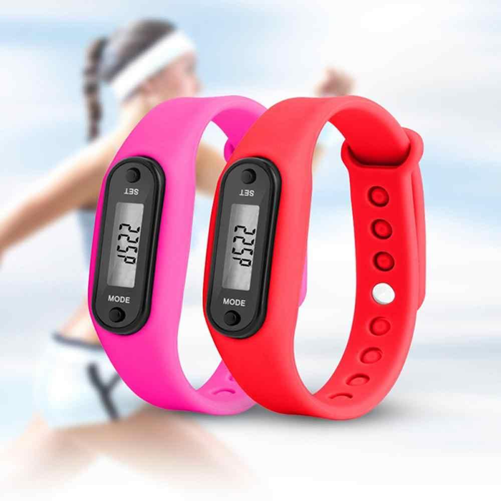 2020 الرياضة الذكية ساعة معصم حامل عرض للأساور اللياقة البدنية مقياس الخطوة المقتفي الرقمية LCD عداد الخطى تشغيل خطوة المشي السعرات الحرارية