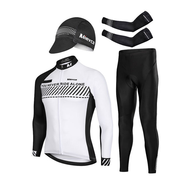 Mikelabo Long Sleeve Cycling/Jersey/Mens Cycling Suit Tops MTB Bike Cycling Jersey Windproof Thermal/Cycling/Jersey for Outdoor Sport Cycling Biking