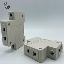 цена на 1P Single One 1 Pole US EU 2 Pin Plug 35mm DIN Rail Mount AC Power ac30 Modular Socket 10-16A 250V AC socket