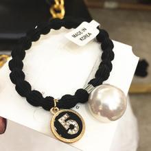 Корейские бутиковые жемчужины горный хрусталь для волос кольцо