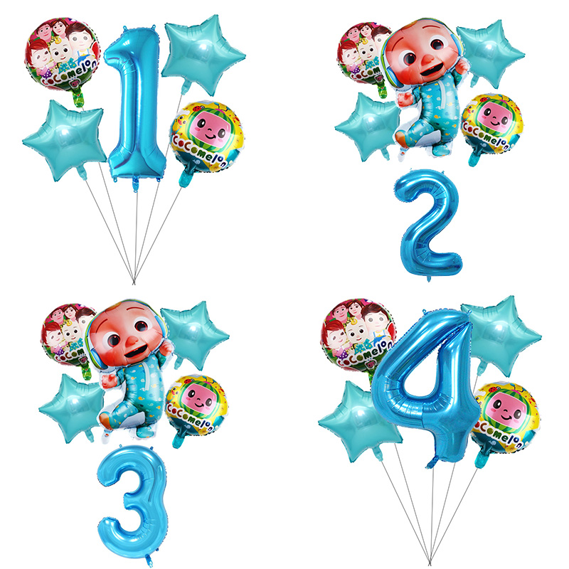 1 комплект Cocomelon тема Алюминий набор воздушных шариков с Baby Shower День рождения Декор воздушные шары для вечеринок Фольга воздушные шары