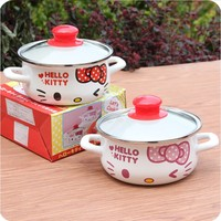 Soup pot Enamel pan mini milk stew pot kitchen cookware cooking induction cooker gas stove baby food Storage container portable