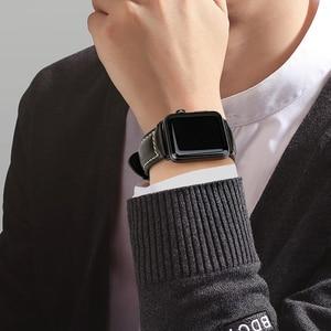 Image 5 - MAIKES pulsera de cuero con cera de aceite para Apple Watch, correa de 42mm, 38mm/44mm, 40mm, Series 4, 3, 2, para Apple Watch, correa de reloj para iWatch