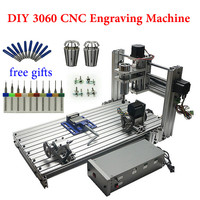 DIY CNC 3060 metal 4axis 400W milling machine more large than 3040 cnc engraving machine for wood acrylic and plastic
