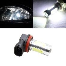 1x H11 H8 Светодиодный лампочки Canbus с зеркальным отражателем дизайн для противотуманных фар без ошибки для Audi A3 A4 A5 S5 A6 Q5 Q7 TT
