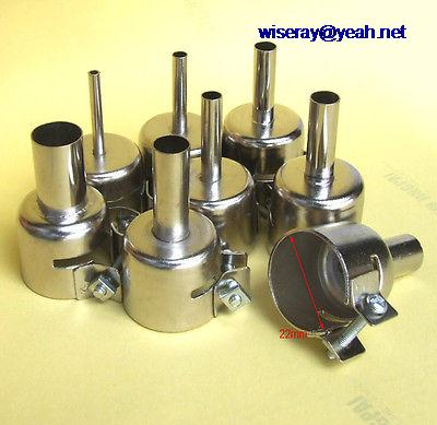 DHL/EMS  20 Sets 3/4/5/6/7/8/10/12mm Heat Gun Nozzle For 850 Soldering Station Hot Air Stations-A8