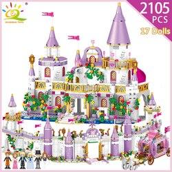 5 в 1 принцесса Виндзор замок модель строительные блоки Совместимость Legoingly друг карета фигурки Развивающие игрушки для девочек ребенок
