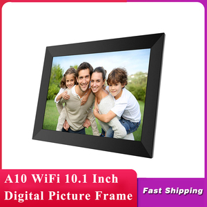 Image 1 - A10 WiFi 10.1 بوصة إطار الصورة الرقمية 1280x800 IPS شاشة تعمل باللمس 16 جيجابايت الذكية إطار صور APP التحكم مع حامل للانفصال